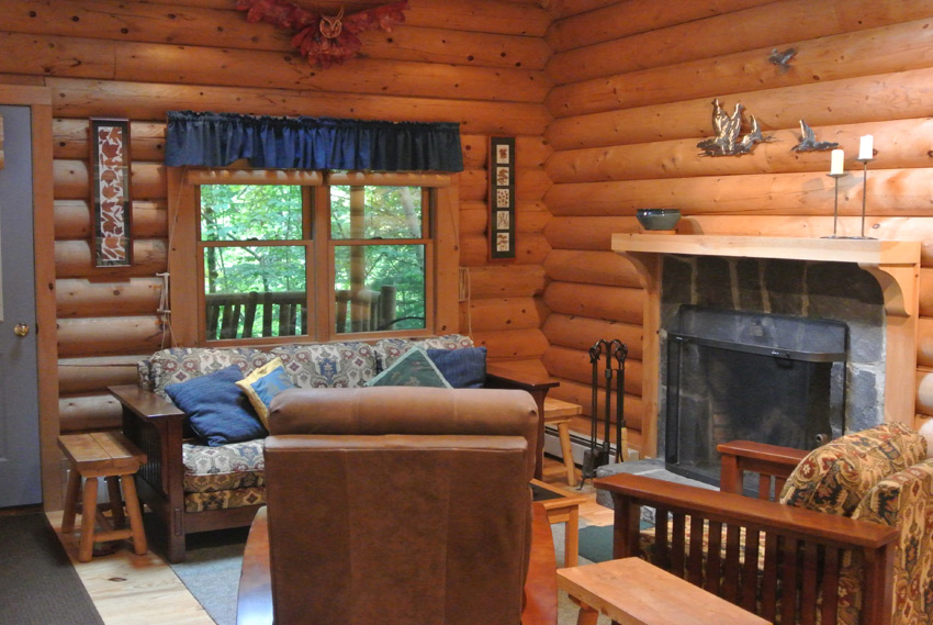 partridge rent a log cabin on the roaring branch river